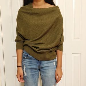 Anthropologie MOTH olive green oversized sweater M
